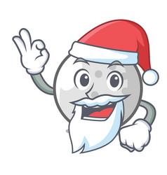 Santa golf ball mascot cartoon vector