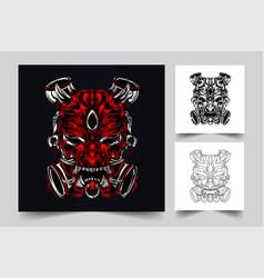 satan artwork vector image