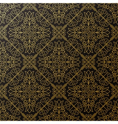 Seamless texture with vintage geometric ornament t vector image