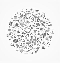 set icons sciences vector image