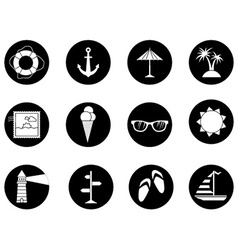 Set of 12 round icons vector