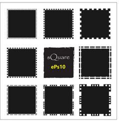 set of empty scribble square frame design vector image