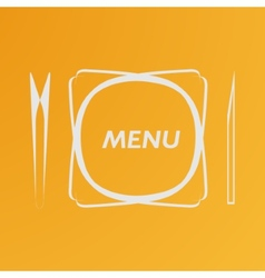 Simple flat cover cafe menu eps vector image