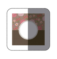 sticker colorful decorative frame with pattern vector image