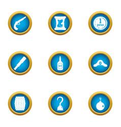 Teller icons set flat style vector