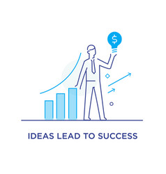 The businessman climbs the career ladder vector