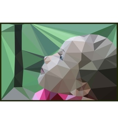 The girls face forest nature geometric vector image