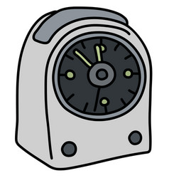 The light small alarm clock vector