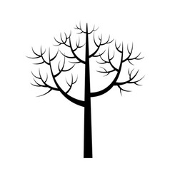 tree icon with branches poster vector image