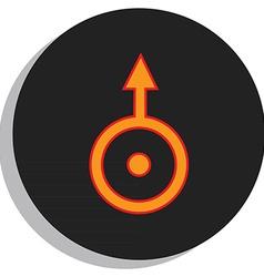 Uranus symbol vector