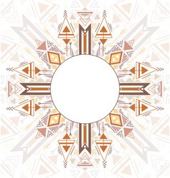 vertical card with tribal geometric mandala and vector image