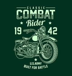 vintage american military motorcycle vector image