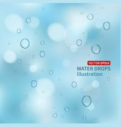 Water drops background vector