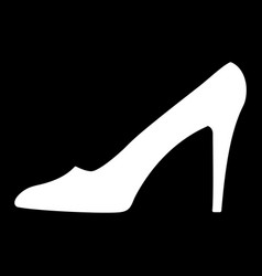 women shoe black sign 912 vector image