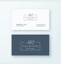 abstract fashion sign or logo and business vector image