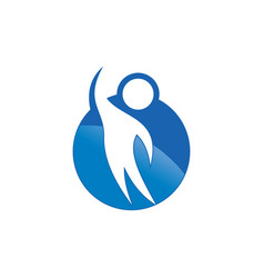 abstract human logo image vector image vector image