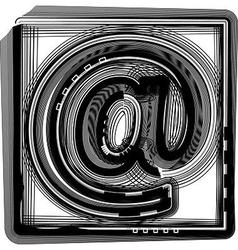 At striped symbol vector