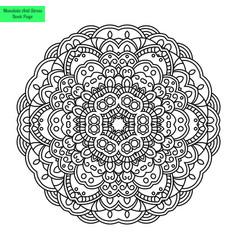 beautiful mandala flower vector image