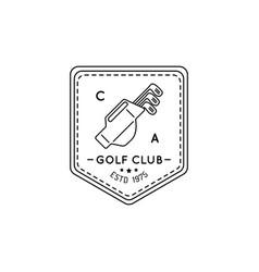 Golf logo sports club linear vector