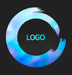 holographic round design templates for for poster vector image vector image