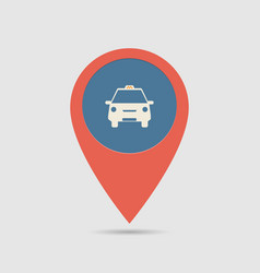map pin taxi vector image vector image