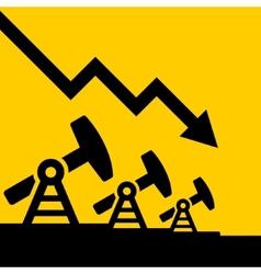 Oil price fall graph vector