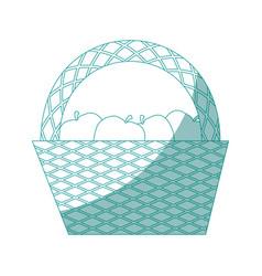 picnic basket cartoon vector image