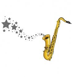 saxophone stars vector image vector image