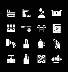 Set icons of pool vector image