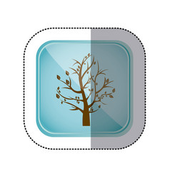 Sticker color square frame and blue background vector