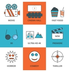 Stock Linear icon movie vector image