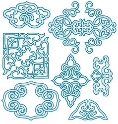 chinese scroll ornament vector image vector image
