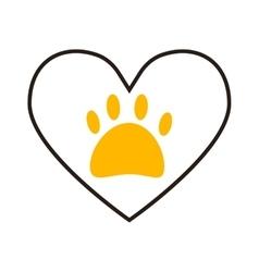 dog foot vector image