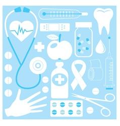 medical pattern vector image