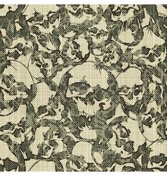 skulls pattern vector image vector image