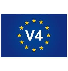 V4 EU flag vector image