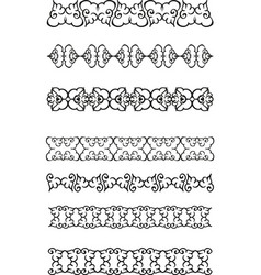 floral ethnic border vector image vector image