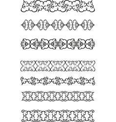 floral ethnic border vector image