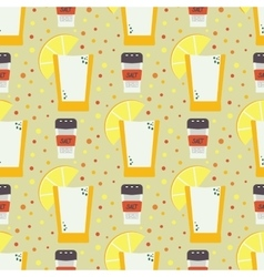 Seamless pattern with hand drawn mexican vector image vector image