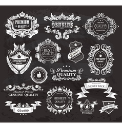 Vintage frames and ribbons vector image