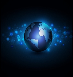 world with network communication and global vector image vector image