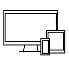 devices icon vector image vector image