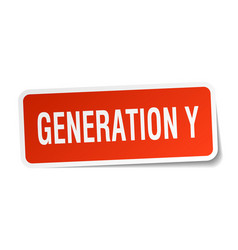 generation y square sticker on white vector image vector image
