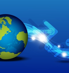 global communication technology concept vector image vector image