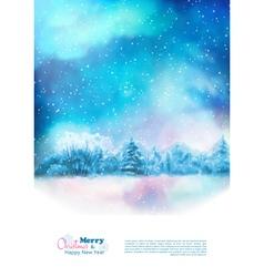 Watercolor Winter Christmas Flyer vector image
