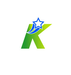 Abstract icon based on the letter k vector