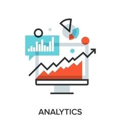 analytics vector image