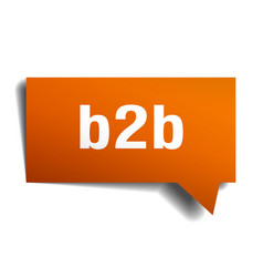 b2b orange 3d speech bubble vector image