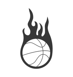 Ball and flame icon Basketball design vector image