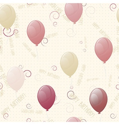balloons happy birthday seamless texture vector image
